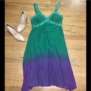 Ombre silk dress